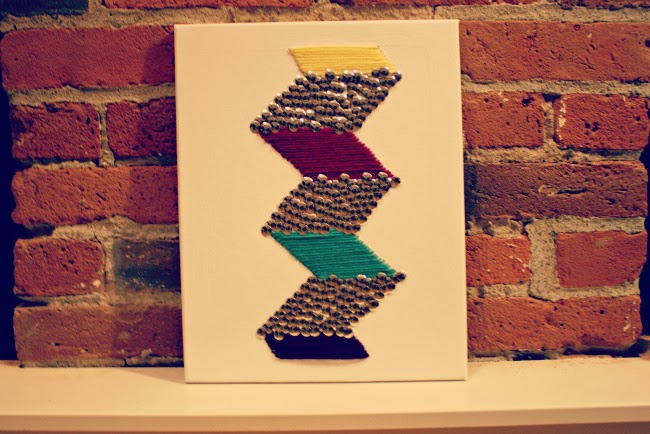 DIY thumbtack wall art