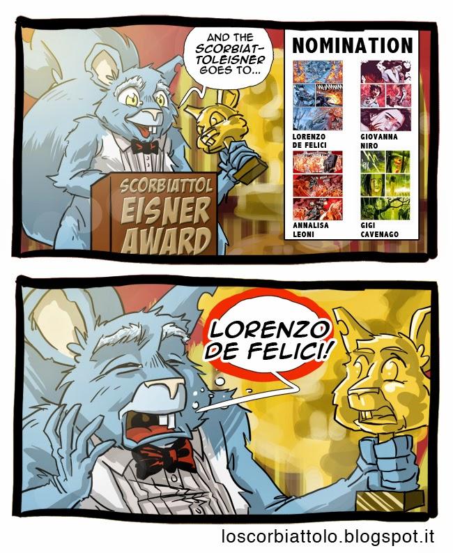 scorbiattolo eisner award premio orfani colorista color lorenzo de felici bonelli