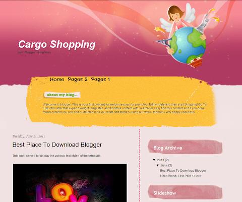 Cargo Shopping Blogger Theme