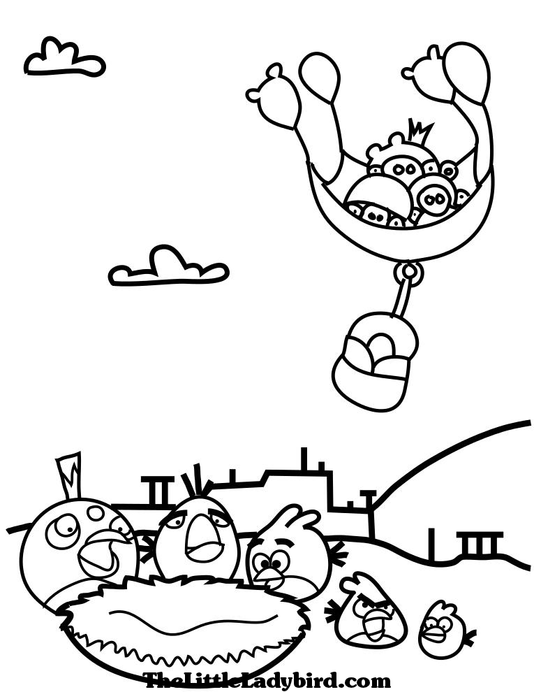 Angry Bird Coloring Pages