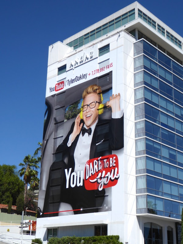 Giant Tyler Oakley You dare to be you billboard