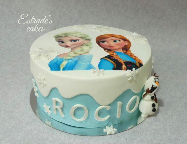 Tarta de Frozen con fondant 3