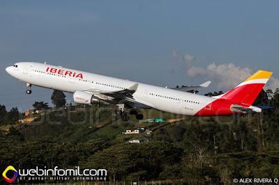 Airbus A-330 de Iberia.