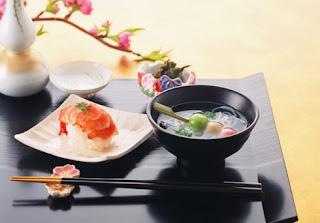 японская весенняя еда, красивые блюда