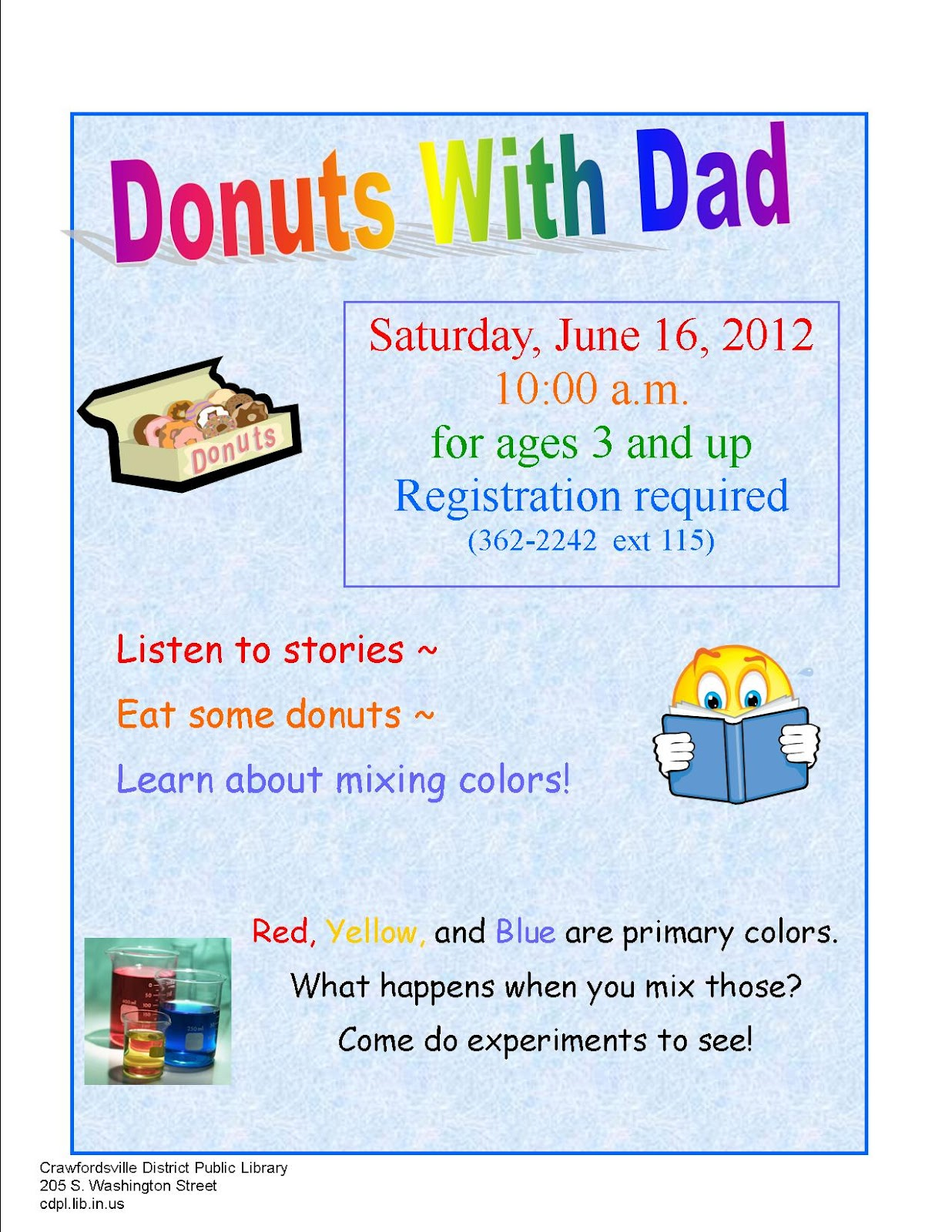 CDPL Children's Services: Donuts With Dad in June
