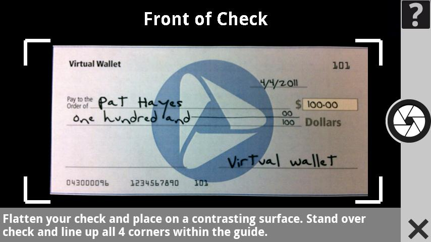how to put checks in wallet