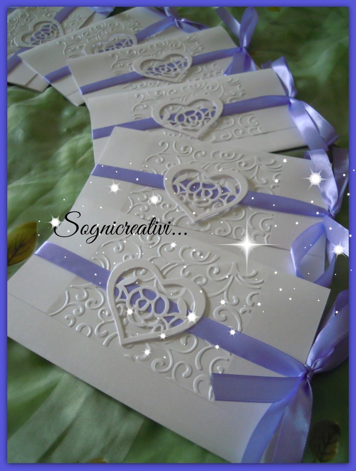 Extrêmement Partecipazioni Sognicreativi Wedding and Events: Partecipazioni  FK97