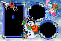 Moldura de Natal com fundo transparente - 3
