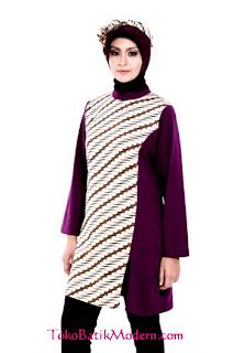 Model Busana  Batik Wanita Muslimah Terbaru Modern