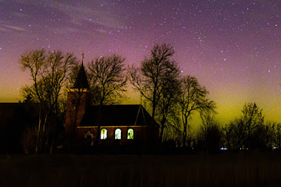 Aurora boven Friesland