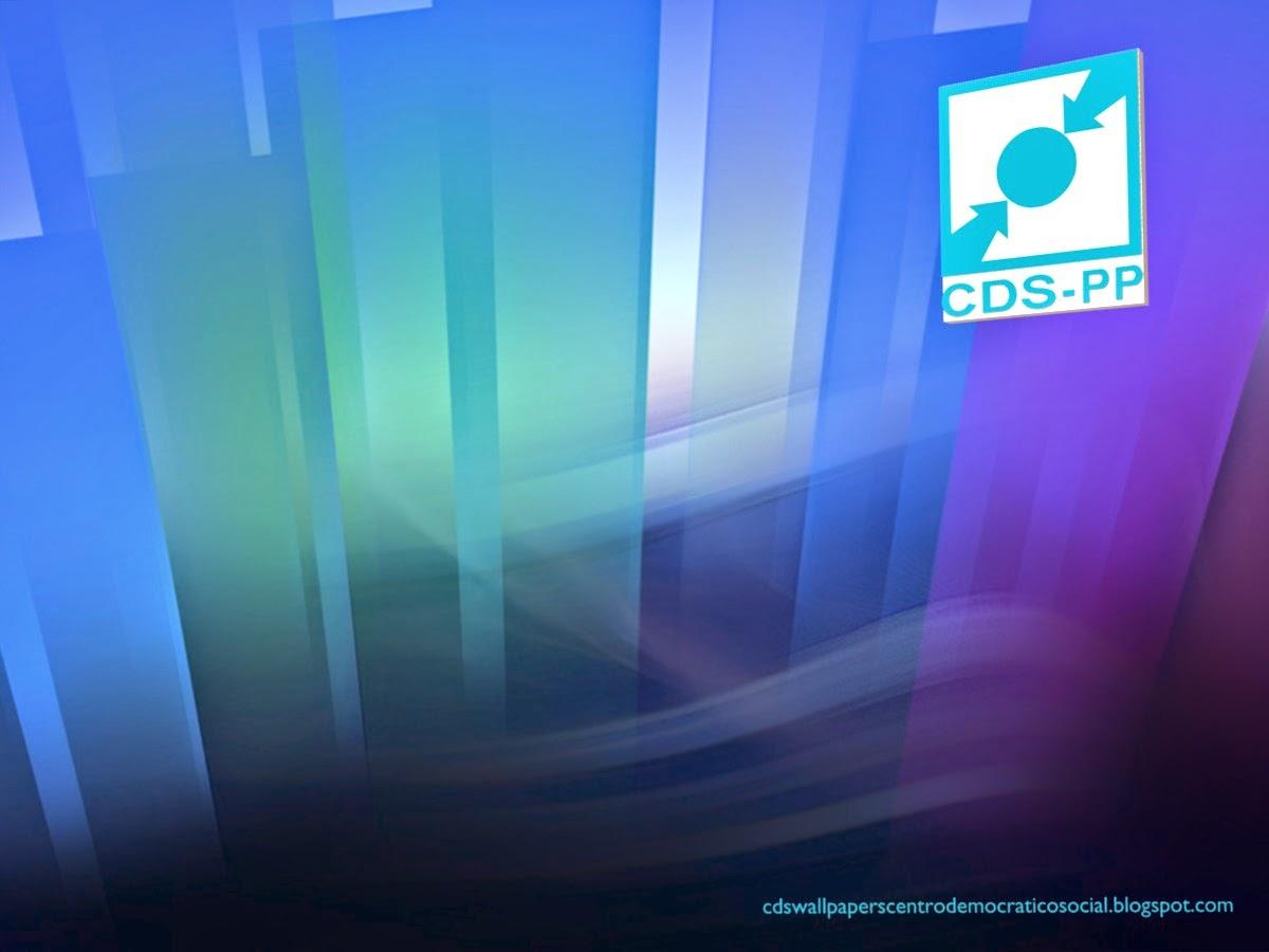 Papel de parede do Partido Centro Democrático Social emblema frontal do CDS-PP para utilizar como fundo de tela do seu ambiente de trabalho