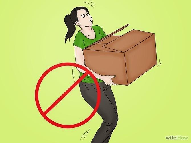 Evite lesão nas costas não intencional