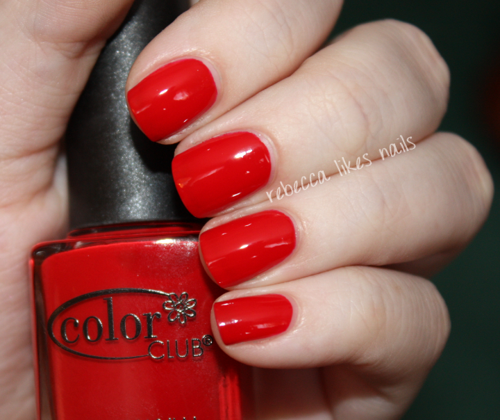 I Love When Reds Are Creme And Not Jelly This Is Two Thin Coats Perfect Formula It Reminds Me Of My Go To Red OPI