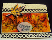 Fall Leaves acetate card