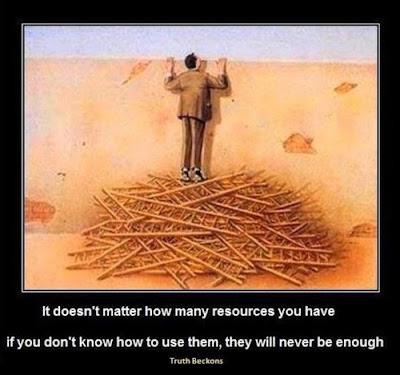 it doesn't matter how many resources you have