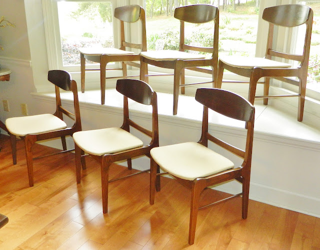 set of six forum dining chairs by stanley