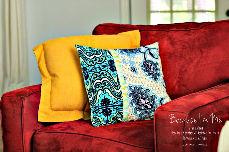 Because I'm Me wonderful bench update, new Amy Butler throw pillow