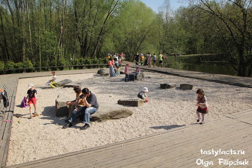 японский сад камней в ботаническом саду