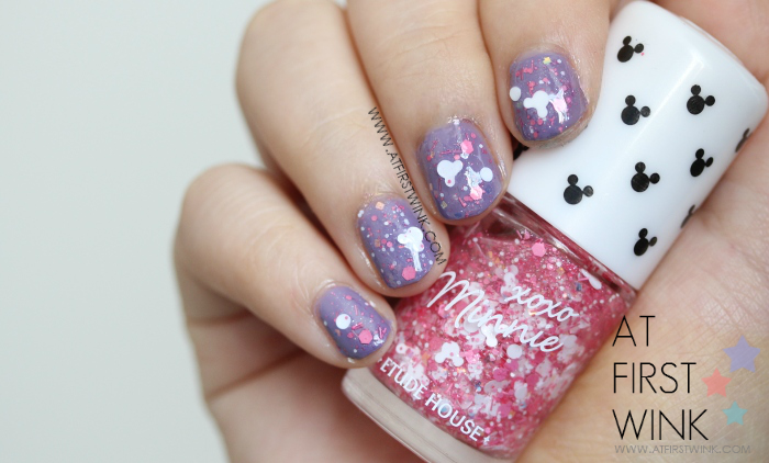 Etude House xoxo Minnie nail polish 03 - White Minnie from far