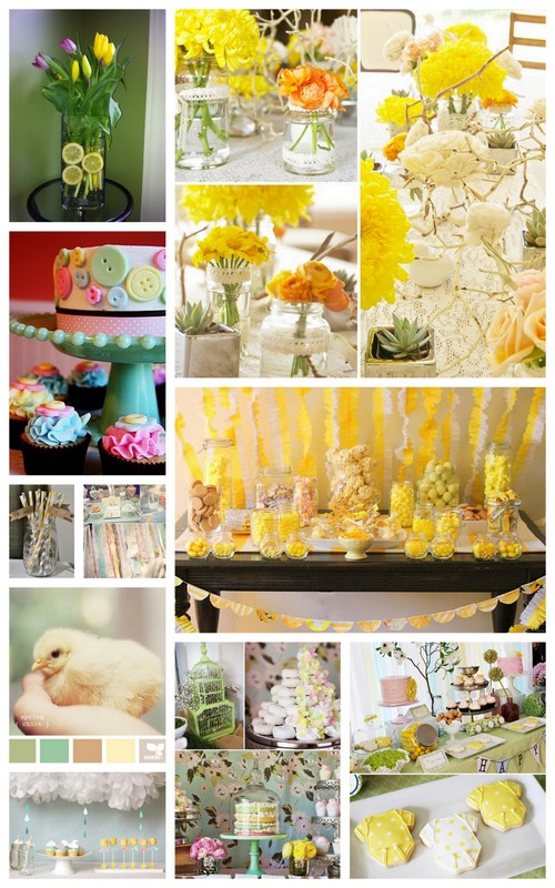 our reflection yellow themed baby shower on tuesday 10