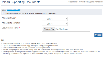 Step 3: Upload the Supporting Documents in online for Passport image