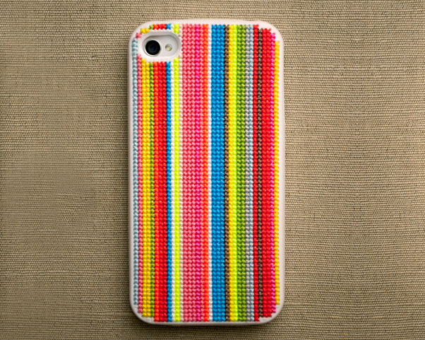 iPhone case stitched