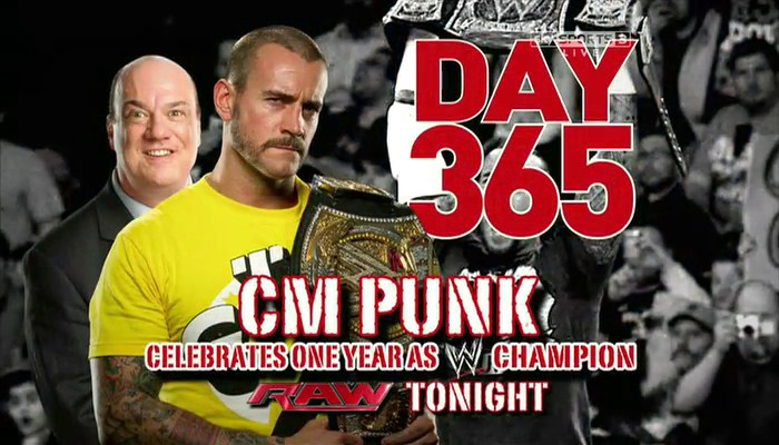 CM Punk complets 365 days as a champion