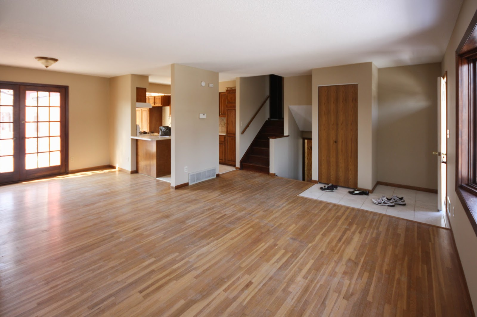 our first order of business when we close is to refinish the hardwoods they are the beautiful skinny planks i think 15 inch - New House Inside