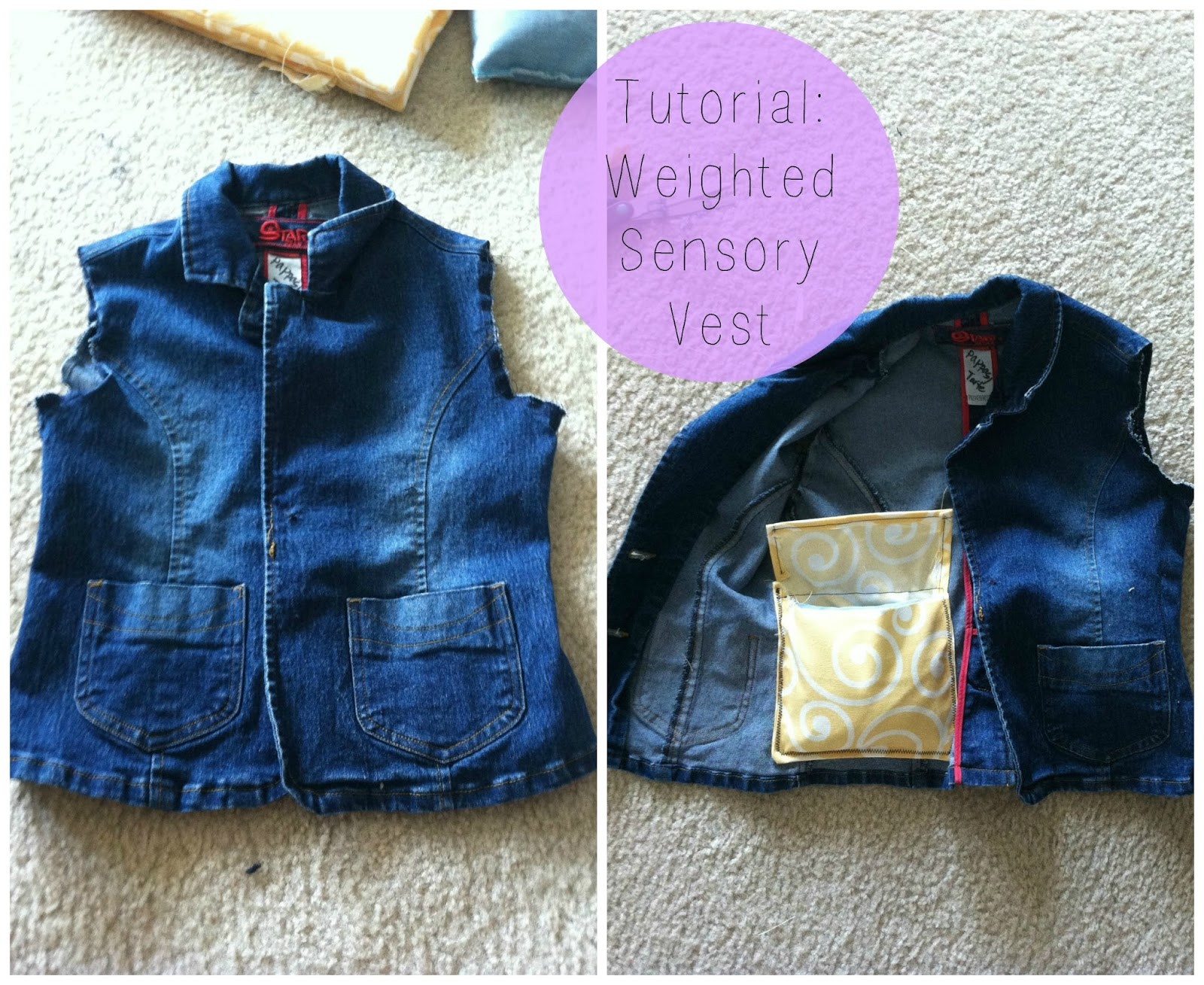Little Miss Kim s Class DIY Weighted Sensory Vest for kids with