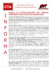 SOBRE LA ESTABILIZACIÓN DEL EMPLEO TEMPORAL EN LA JUNTA DE ANDALUCÍA