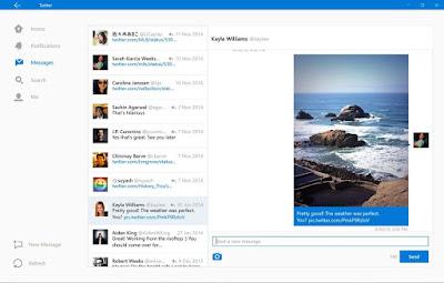 Twitter update for Windows 10