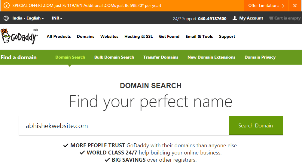 Godaddy Coupon Code Domain Name Gillette Wy Coupons