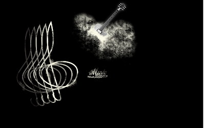 wallpapers and backgrounds music - Black Guitar Tone