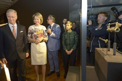 King Philippe and Queen Mathilde viewed the exhibition