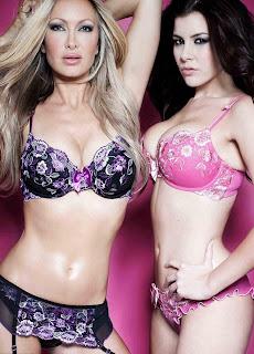 Imogen Thomas lingerie collection, Caprice lingerie collection, model floral lingerie collection