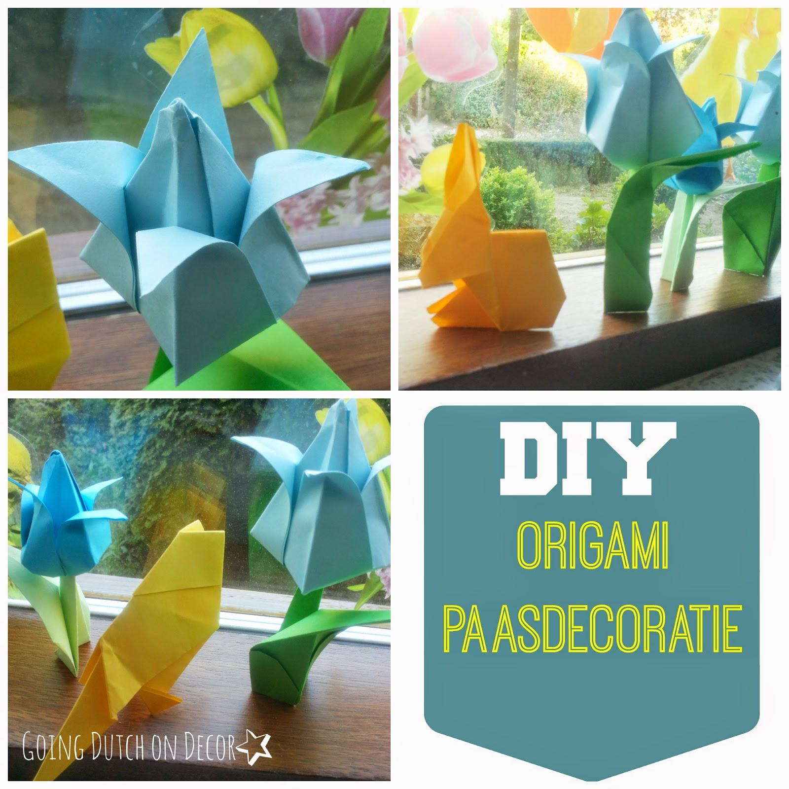 DIY paasdecoratie van origami