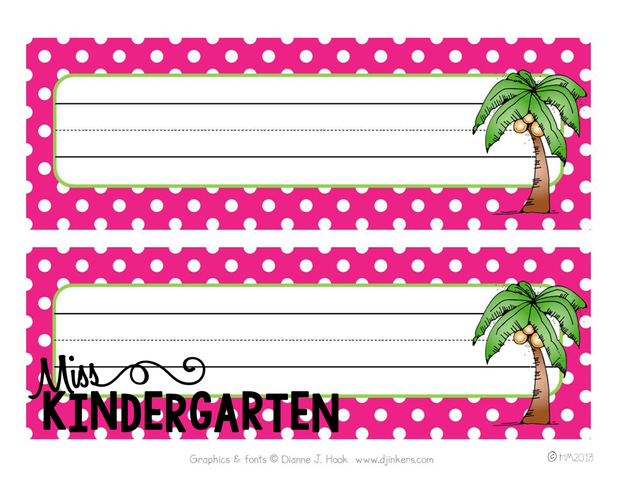 Beach themed name plates