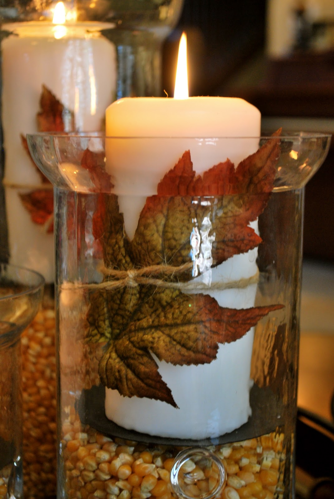 Thanksgivingfall decorations hurricane vases amanda jane brown these candles i use over and over for different seasonal displays in these hurricane vases reviewsmspy
