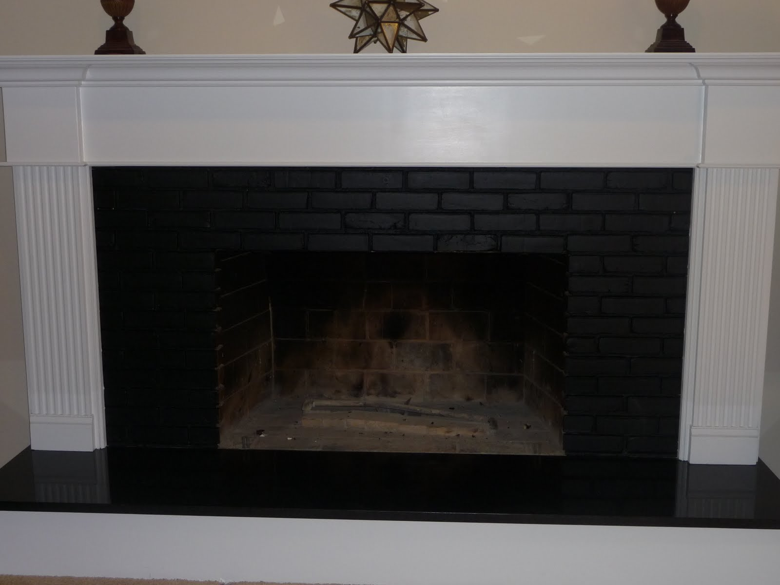 painting inside of fireplace black fireplace ideas