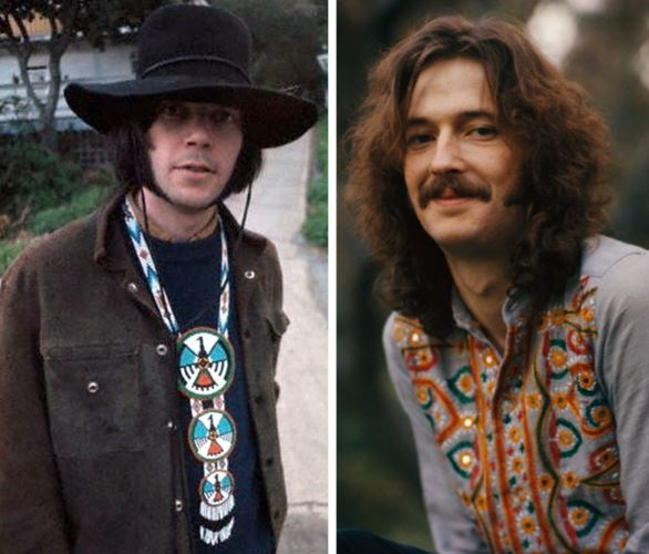 Neil Young, Eric Clapton, 1968