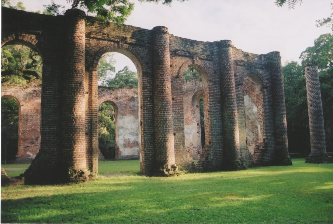 photo of the old sheldon church ruins by joshua hopperton