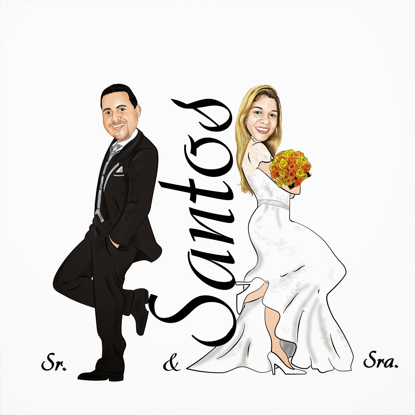 caricatura-noivos-casamento-caricatura-n