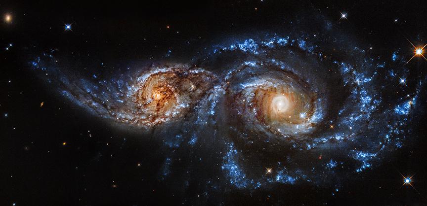 NGC 2207 и IC 2163 в оптическом диапазоне