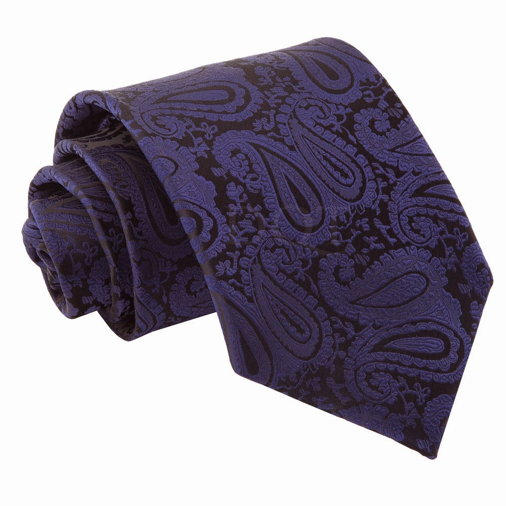 Paisley Navy Blue Mens Tie