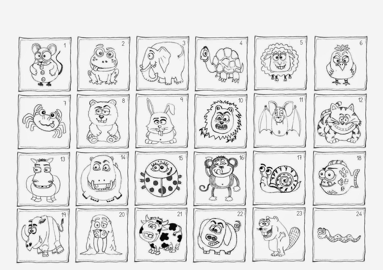 Pinturas y dibujos VGMONNZO Dibujos lineales infantiles