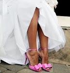 Sapatos coloridos para noivas... um charme!!!