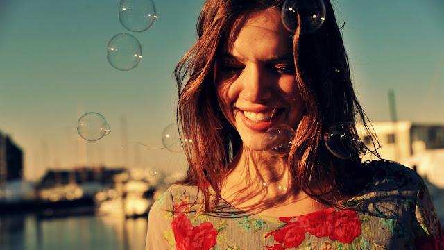 Smiles Among Balloons HD Wallpaper