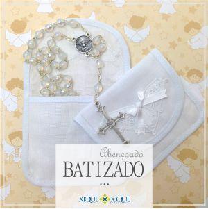 Batizado com a elegância das rendas e bordados brasileiros