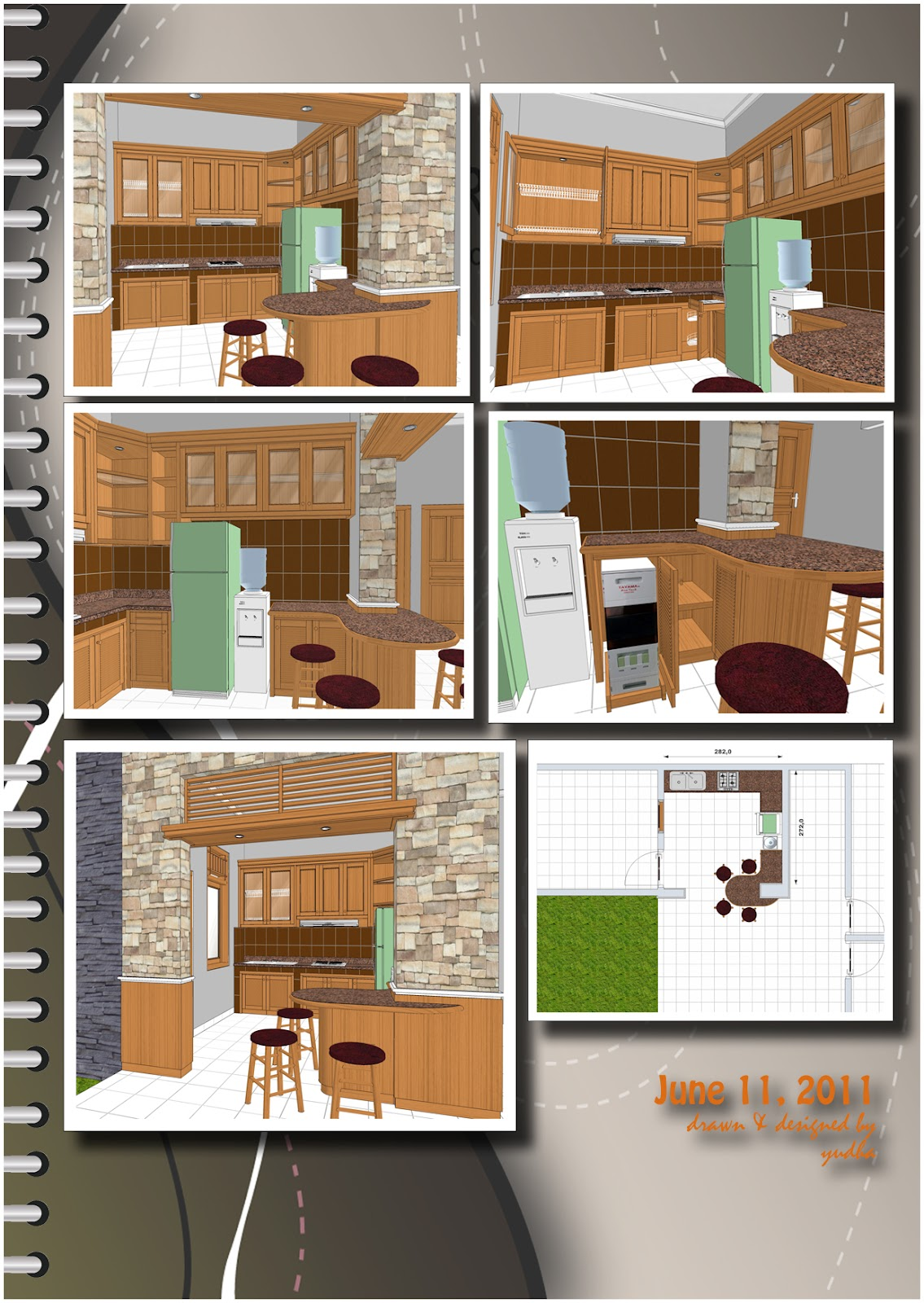 Kitchen set plus minibar katalog desain pak de i for Katalog kitchen set