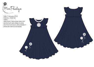Navy Doiley dress